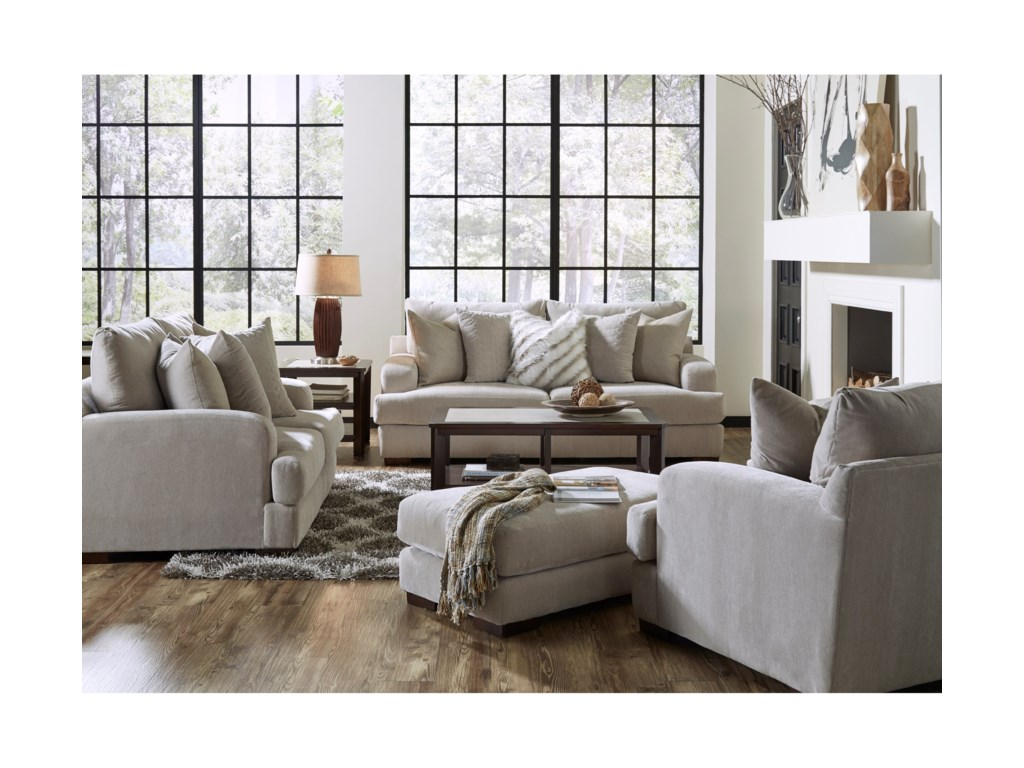 Jackson Furniture Gabrielle Sofa With Track Arms Wayside Furniture Sofas