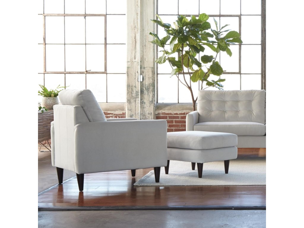 Jackson Furniture Haley Mid Century Modern Chair And Ottoman