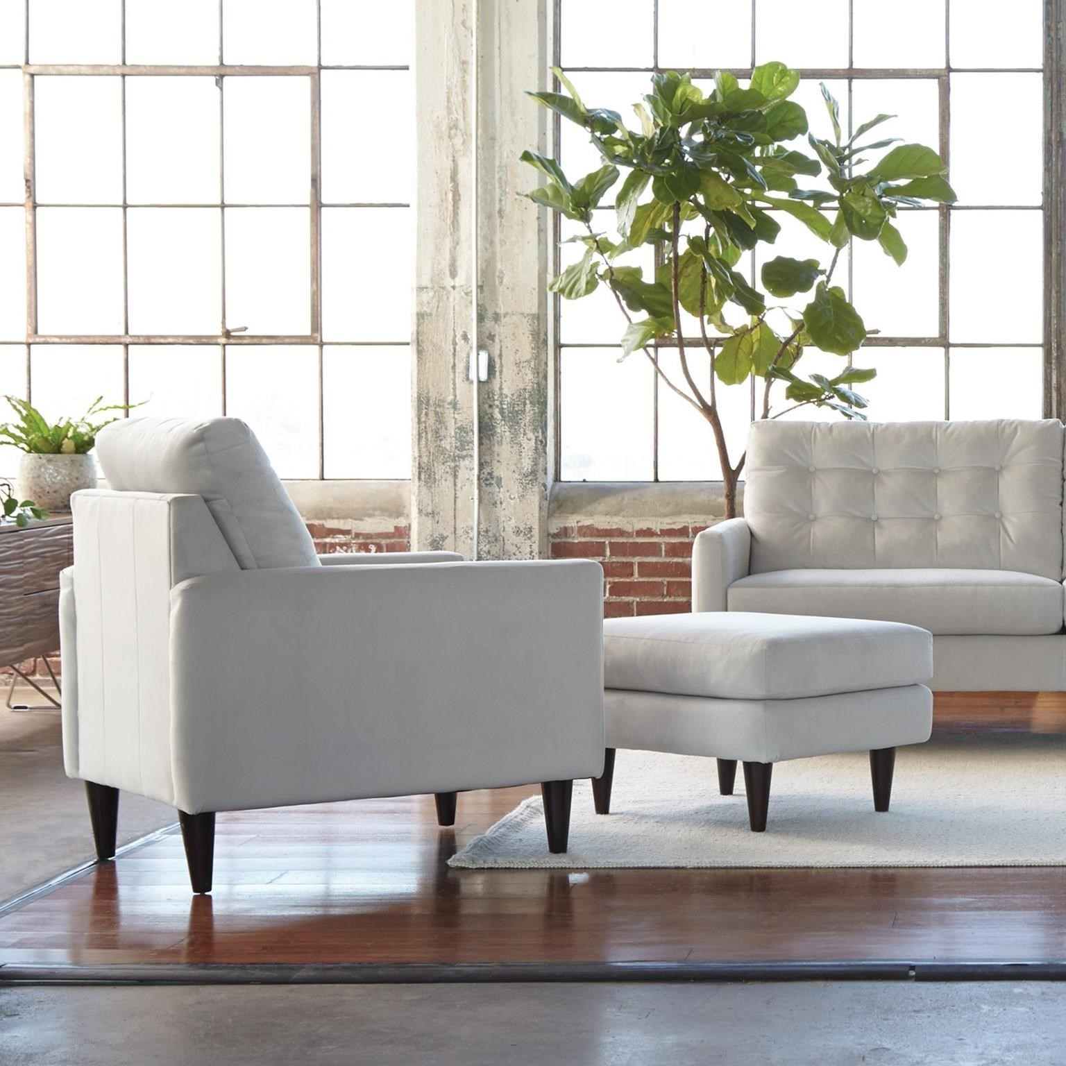 Genial Jackson Furniture Haley Mid Century Modern Chair And Ottoman