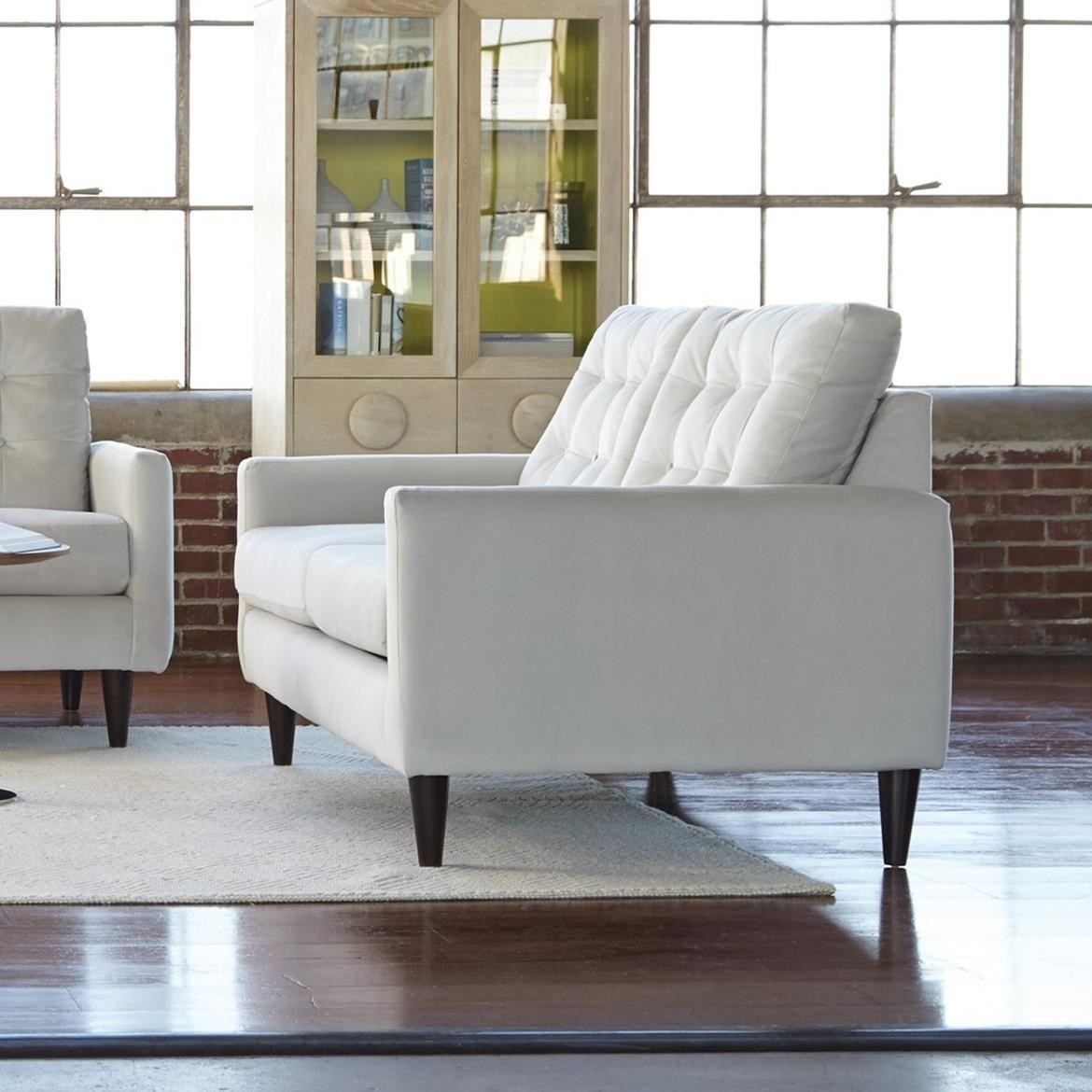 Charmant Jackson Furniture Haley Mid Century Modern Loveseat With Button Tufting
