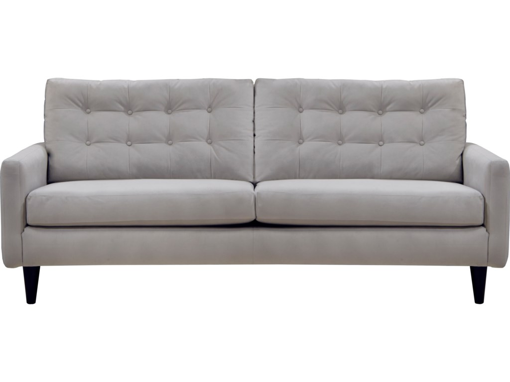 Jackson Furniture Haley Mid-Century Modern Sofa with Button Tufting ...