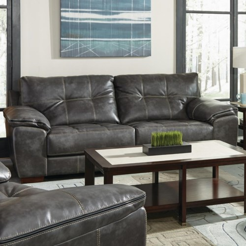 Jackson Furniture Hudson Contemporary Loveseat With Tufted Back