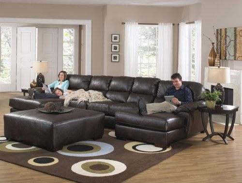 Jackson Furniture Lawson Two Chaise Sectional Sofa With Five Total