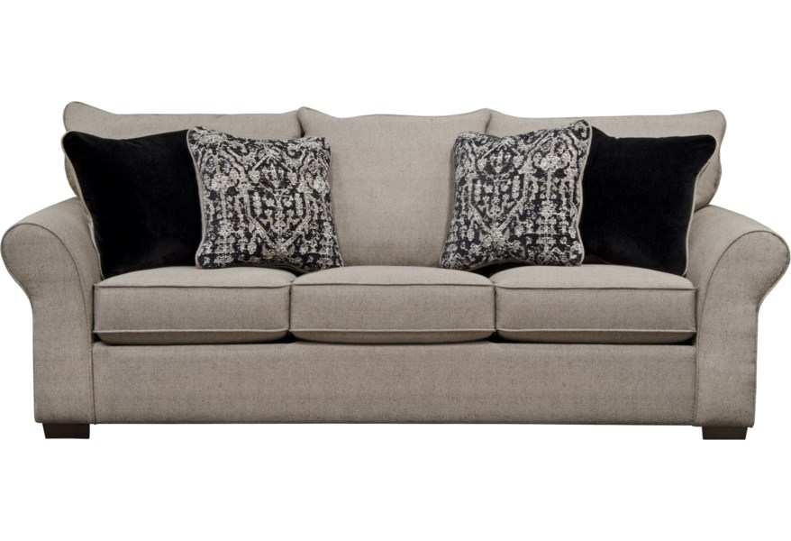 Maddox Transitional Sofa With Sock Arms