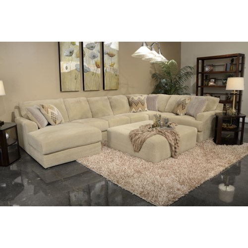 Jackson furniture malibu six seat sectional sofa wayside for 6 in the living room