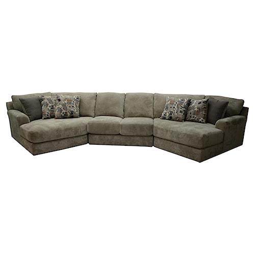 Jackson Furniture Malibu Four Seat Sectional Sofa