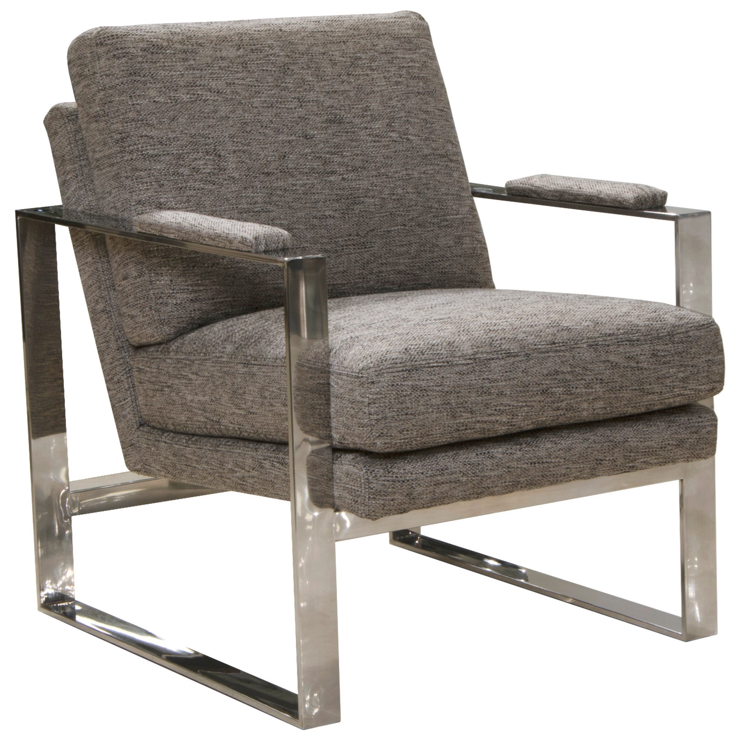 Contemporary Metal Chair with Padded Arms