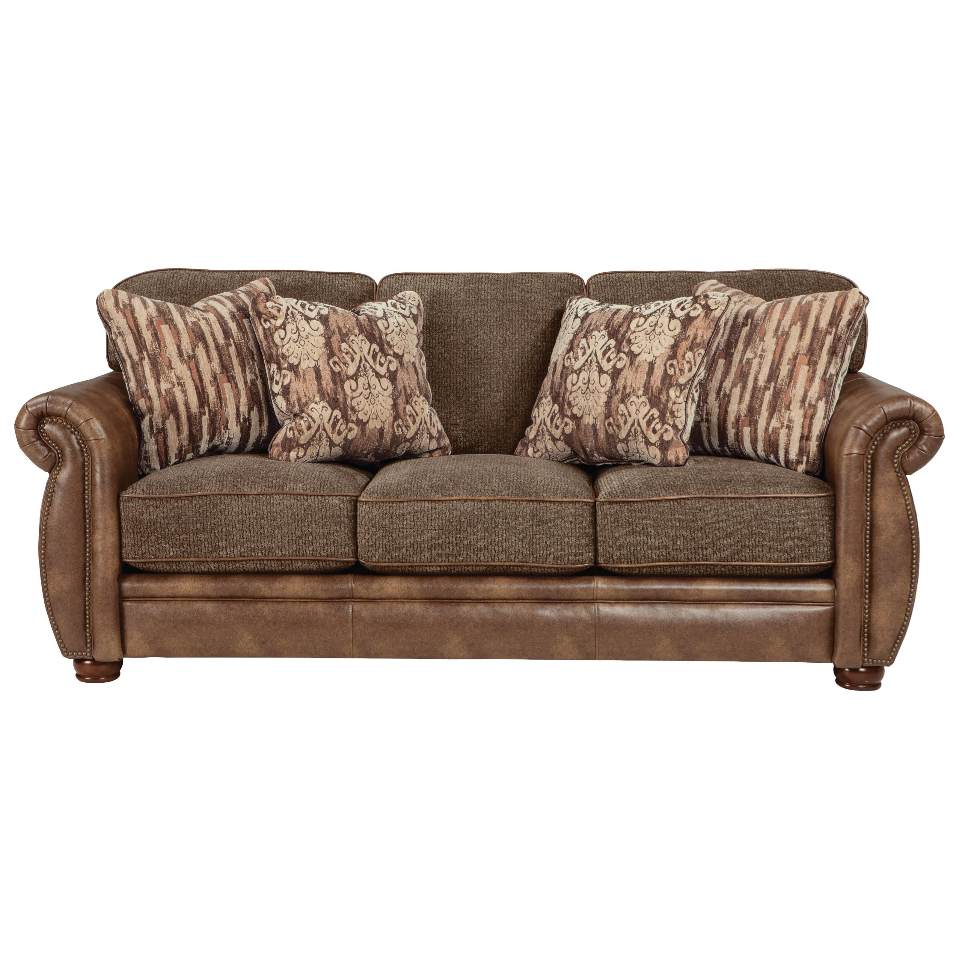 Jackson Furniture Pennington Traditional Styled Queen Sleeper Sofa   Adcock  Furniture   Sleeper Sofas
