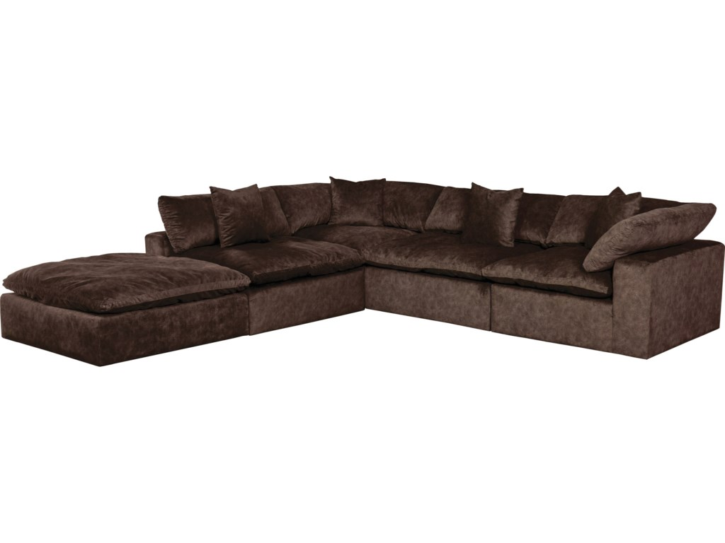 Plush L-Shaped Sectional Sofa with Chaise by Jackson Furniture at Lindy\'s  Furniture Company