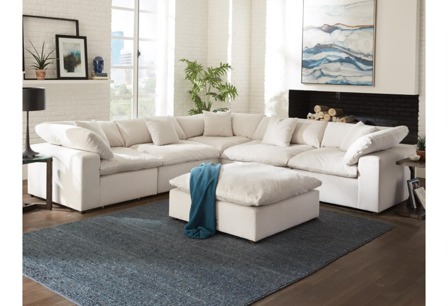 Posh Contemporary L-Shaped Sectional Sofa by Jackson Furniture at Standard  Furniture