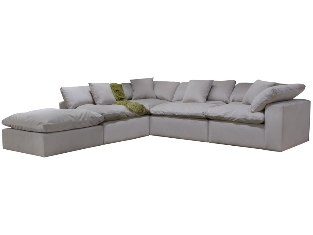 Posh Contemporary Chaise Sectional