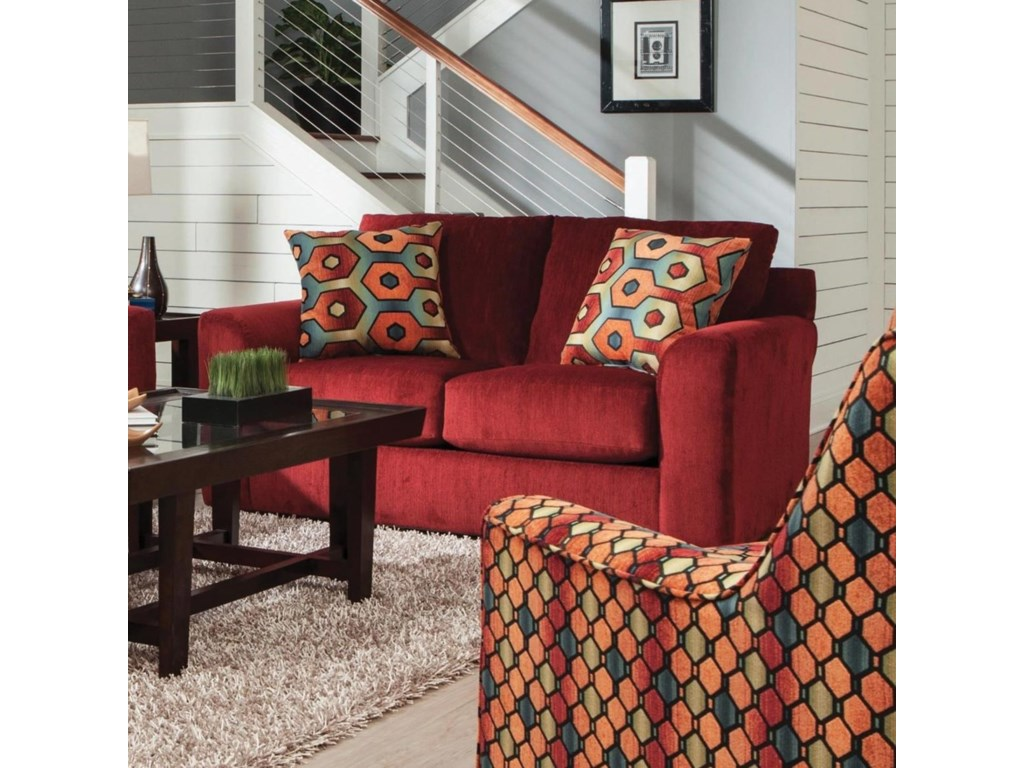 Sutton Loveseat with Casual Style by Jackson Furniture at Suburban Furniture