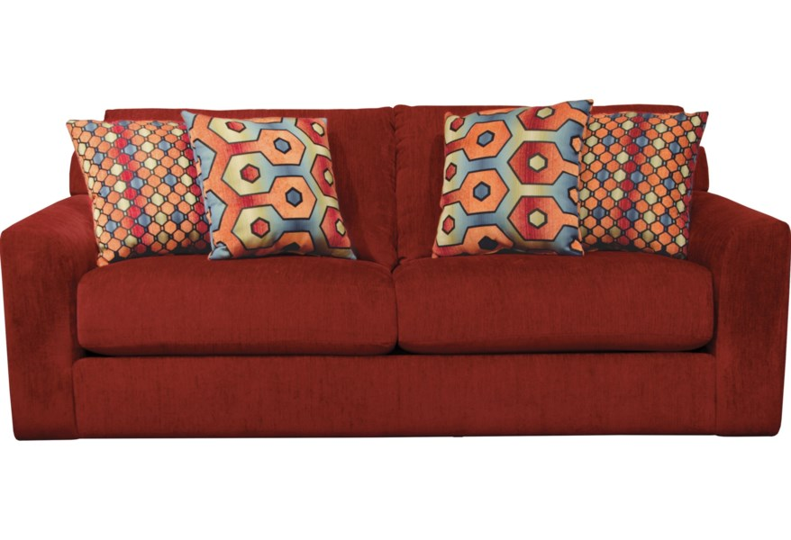 Sutton Queen Sleeper Sofa with Casual Style by Jackson Furniture at  Suburban Furniture