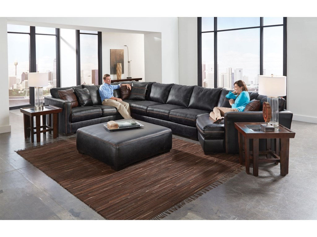 Jackson Furniture Tuckersectional Sofa With Six Seats