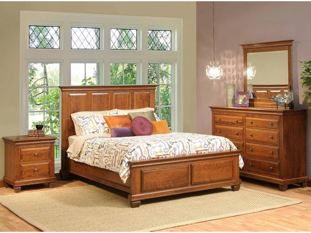 Shown in Room Setting with Nightstand and Bed
