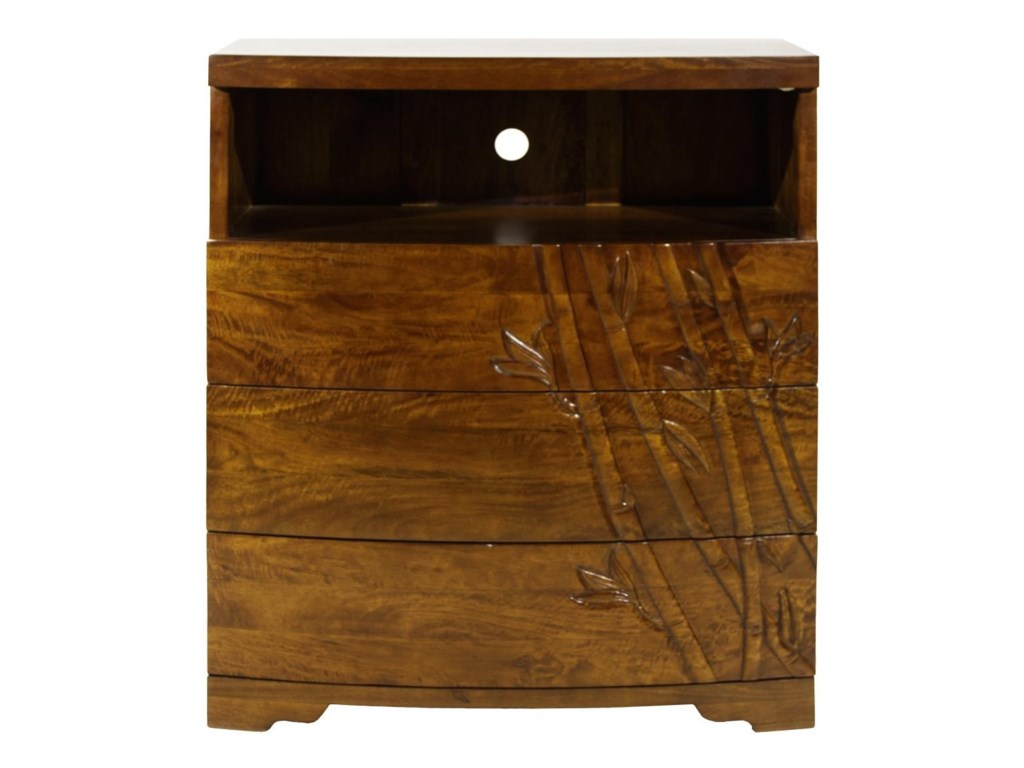 Jamieson Import Services, Inc. Foliage3 Drawer Media Chest