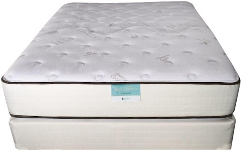 Jamison Bedding Resort Hotel Turnberry Full Two Sided Plush Pillow Top Mattress and TruBalance Foundation