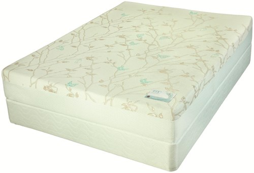 Jamison Bedding Swallowtail Latex King Firm Latex Mattress and Foundation
