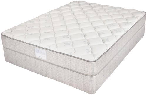 Jamison Bedding Two Thirty Four Collection - Series 400P Queen Plush Foam Mattress and Foundation