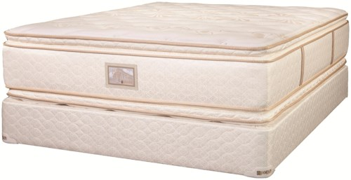Jamison Bedding Vita Pedic Aphrodite Queen Pillow Top Two-Sided Mattress and Foundation