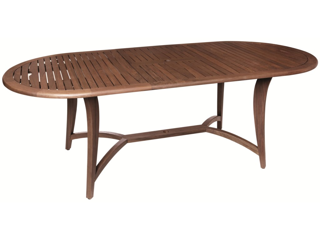 Jensen Leisure TopazButterfly Oval Extension Table