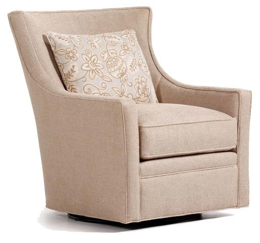 Superbe Jessica Charles Fine Upholstered Accents Delta Upholstered Swivel Chair