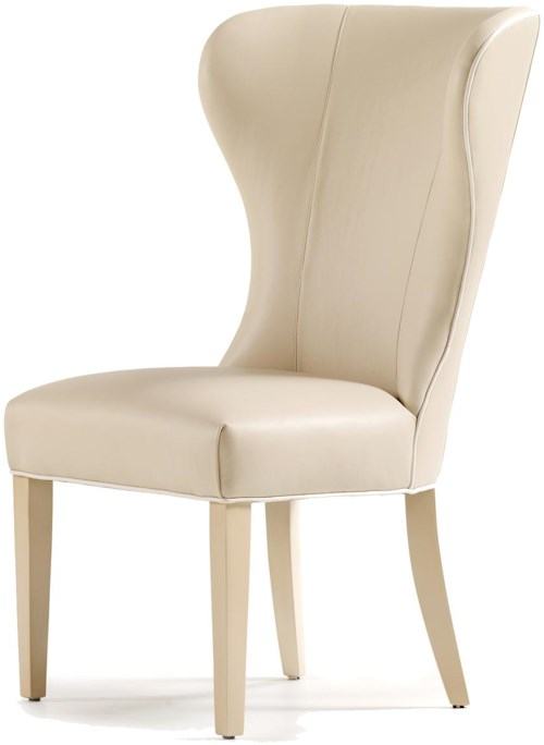 Jessica Charles Fine Upholstered Accents Garbo Wingback Dining Side Chair
