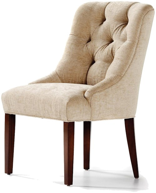 Jessica Charles Fine Upholstered Accents Bartlett Tufted Back Dining Side Chair