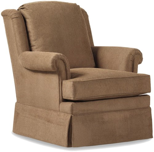 Jessica Charles Fine Upholstered Accents Brooklyn Upholstered Swivel Rocker
