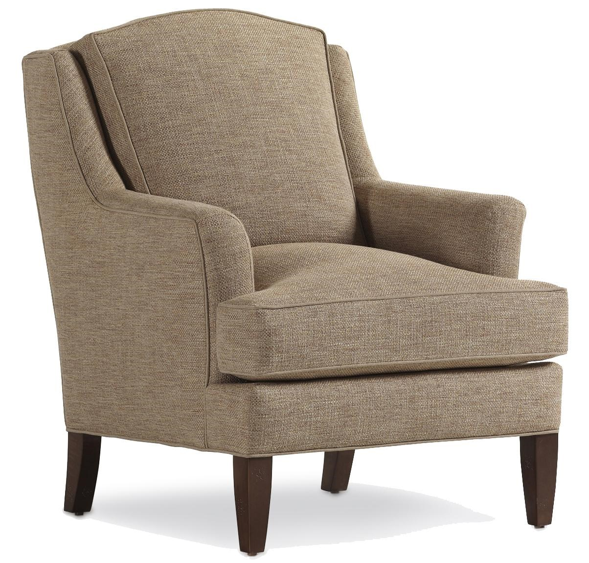 Jessica Charles Fine Upholstered Accents Landon Chair with Track Arms - Sprintz Furniture ...