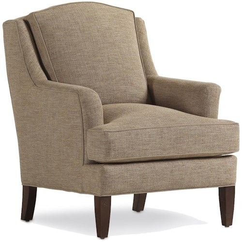 Jessica Charles Fine Upholstered Accents Landon Chair with Track Arms