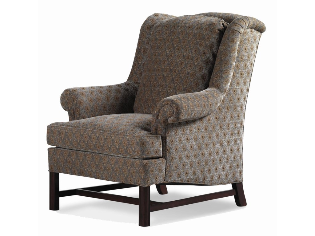Jessica Charles Fine Upholstered AccentsAlexander Chippendale Wing Chair