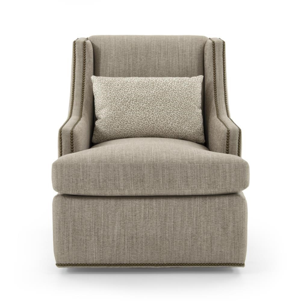 Jessica charles fine upholstered accentscrosby swivel chair