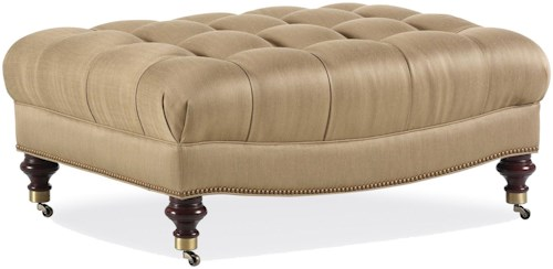 Jessica Charles Fine Upholstered Accents Cocktail Ottoman with Tufted Seat