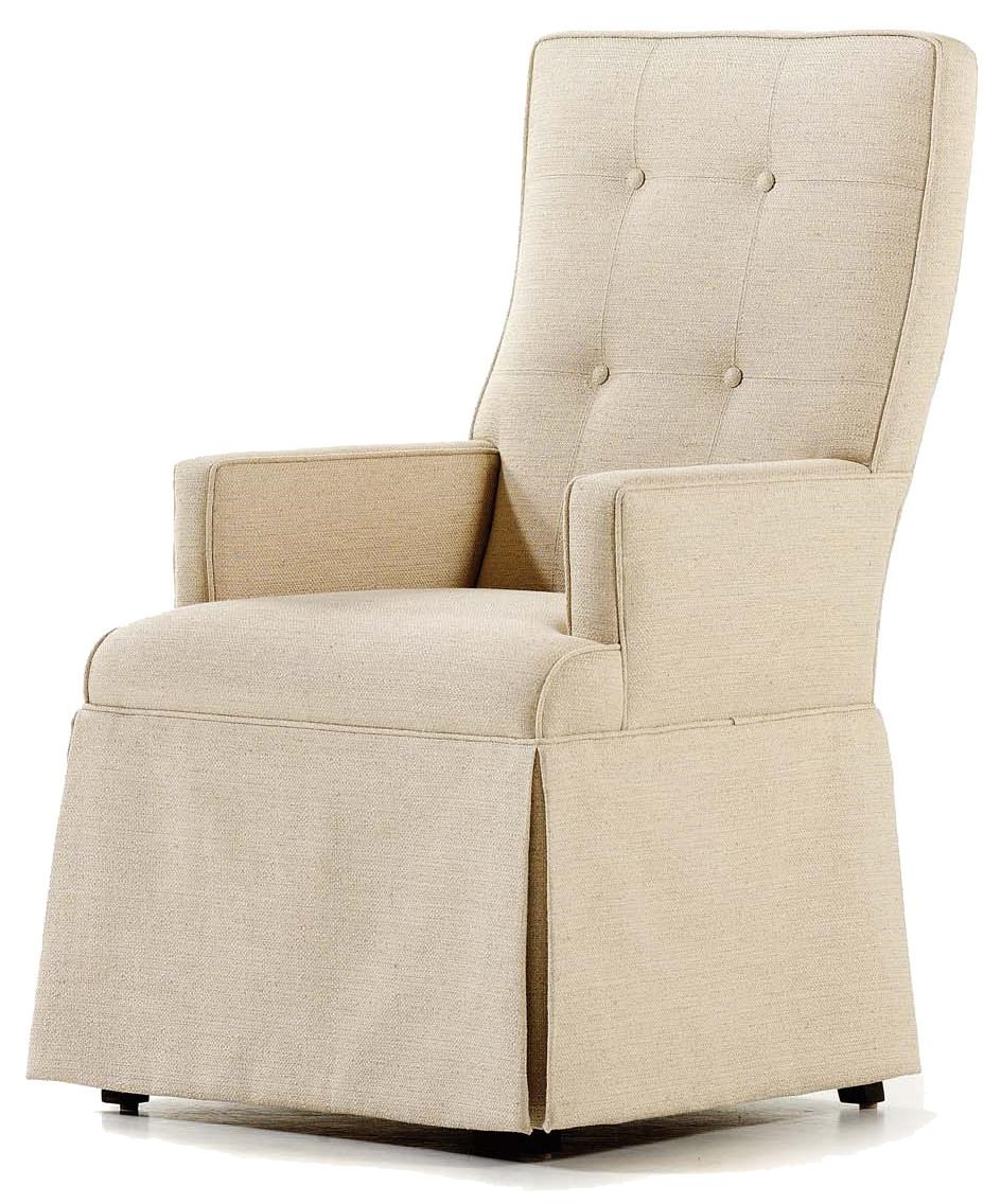 Jessica Charles Fine Upholstered AccentsBaye Skirted Arm Chair ...
