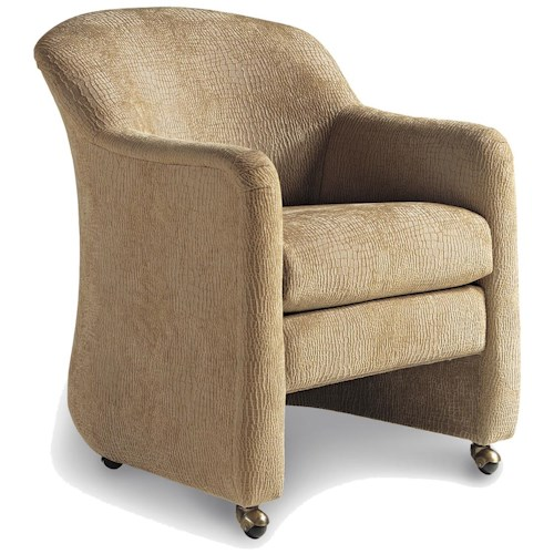 Dining Chairs With Wheels: Jessica Charles Fine Upholstered Accents Tsion Game Chair