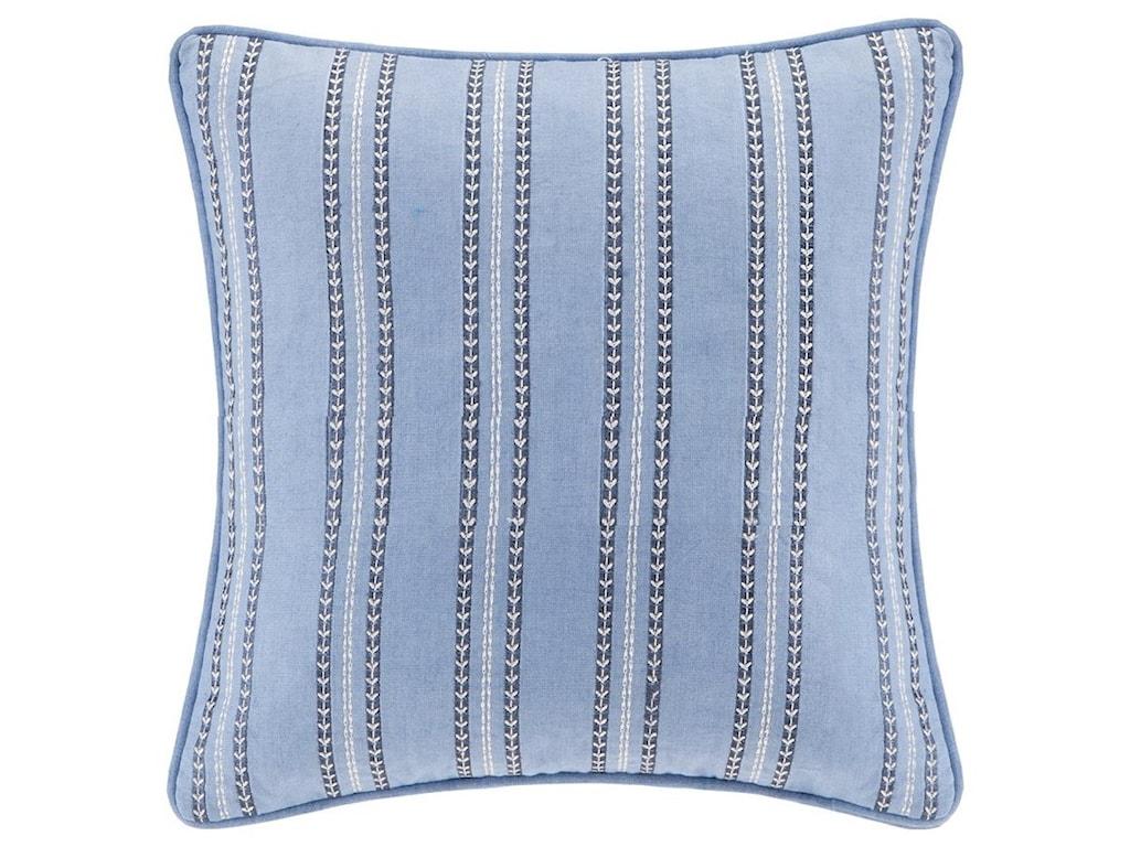 Jla Home Echo Design Eo30 1409a Kamala Striped Embroidery Square