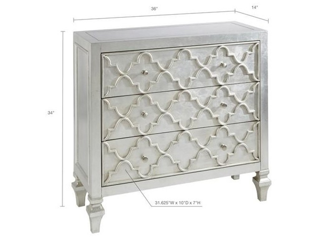 JLA Home Madison Park3-Drawer Somerset Accent Cabinet