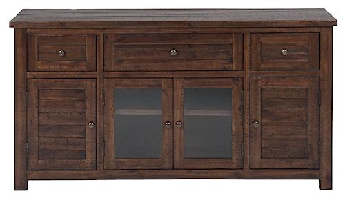 Jofran Urban Lodge Brown Urban Lodge Brown Media Unit with 3 Drawers & 4 Doors