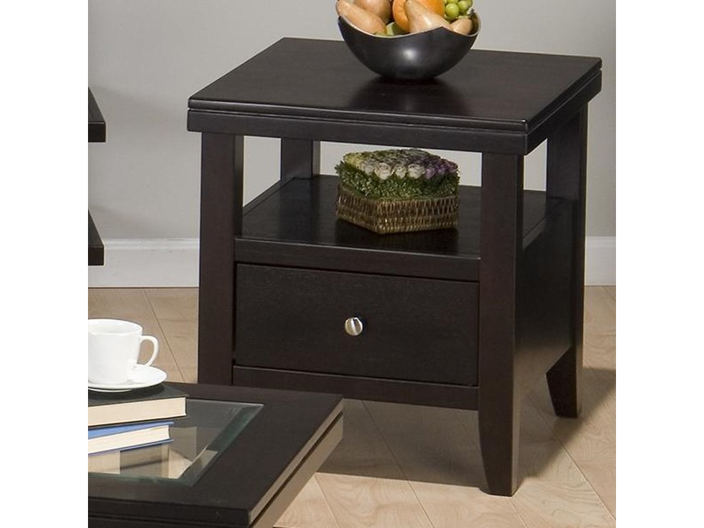 Jofran Marlon WengeEnd Table