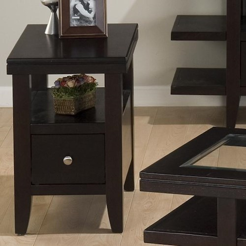 Jofran Marlon Wenge Chairside Table w/ Drawer & Shelf