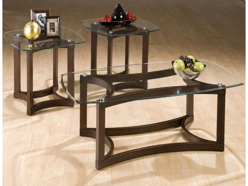 Jofran Bellingham Brown3-Pack Occasional Table Set