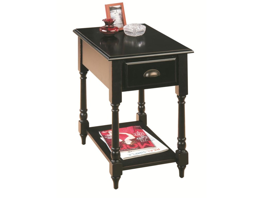 Jofran Antique BlackChairside Table