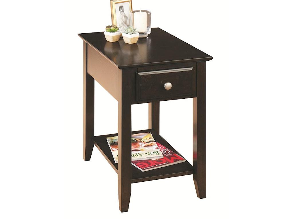 Jofran EspressoChairside Table