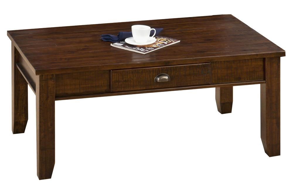 Jofran Urban Lodge BrownCocktail Table w/ Drawer