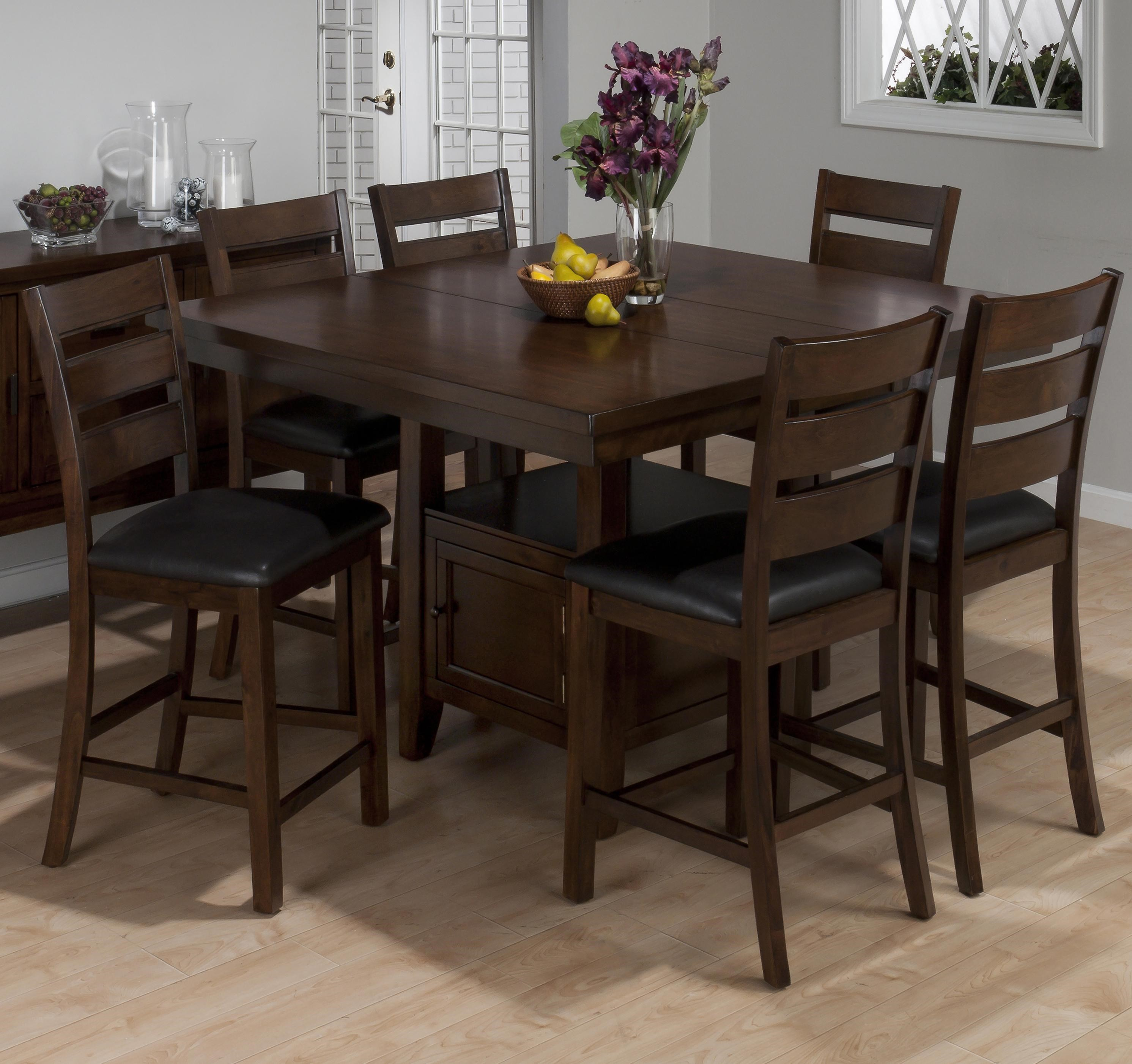 Jofran Taylor Brown Cherry7 Piece Counter Height Dining Set ...