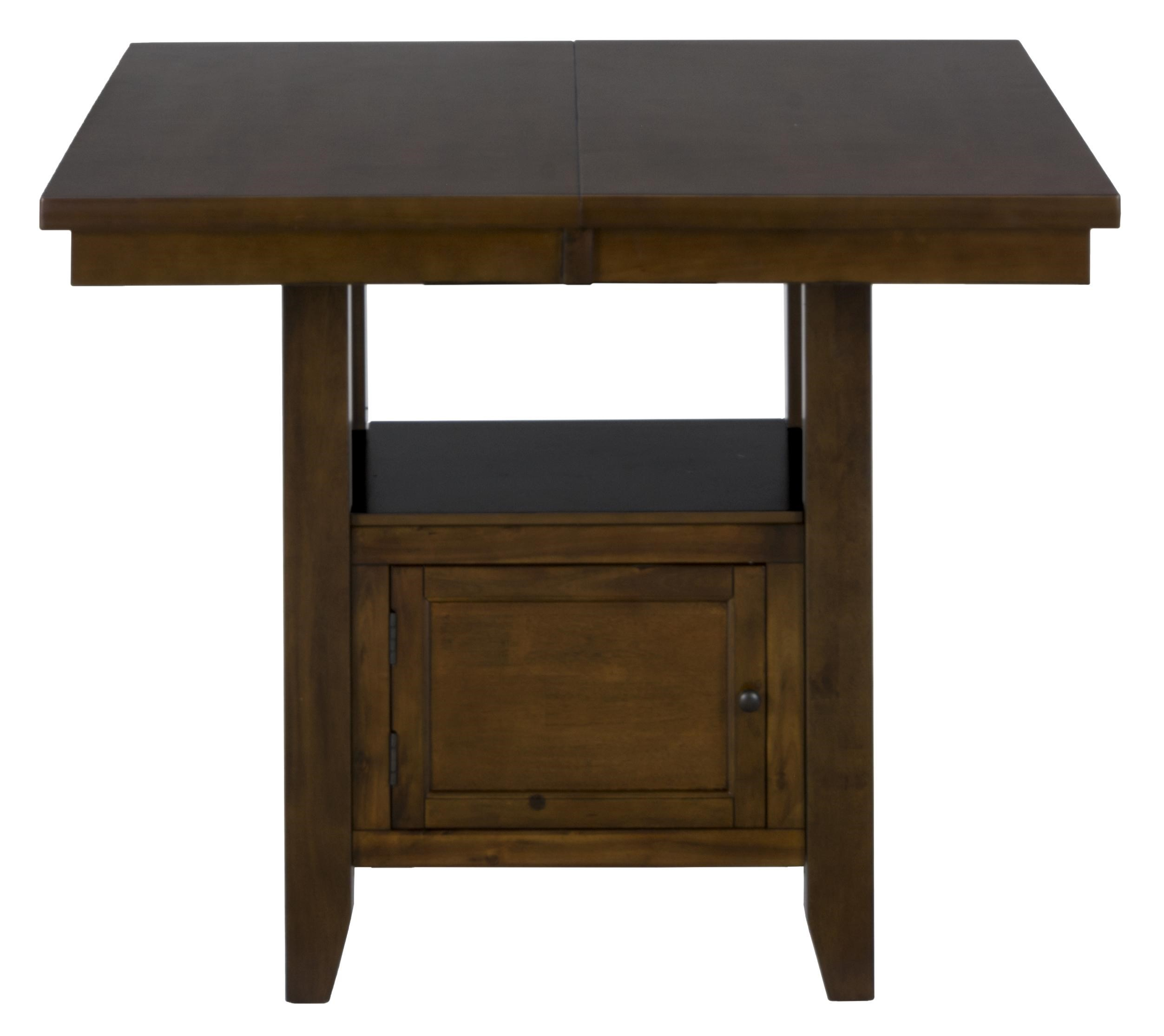 Jofran Chadwick Counter Height Table With Corner Bench And: Jofran Craftsman Double Header Storage Counter Table With