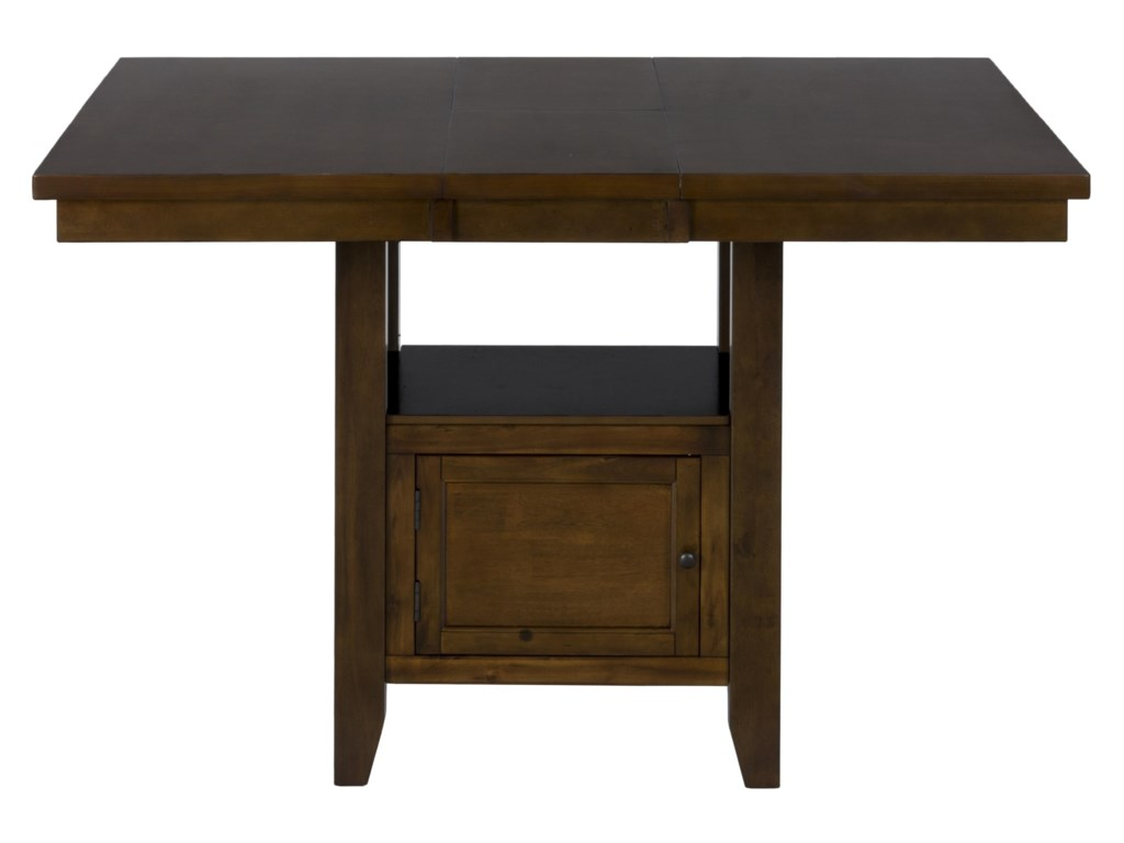 Jofran Taylor Brown CherryDouble Header Counter Height Table