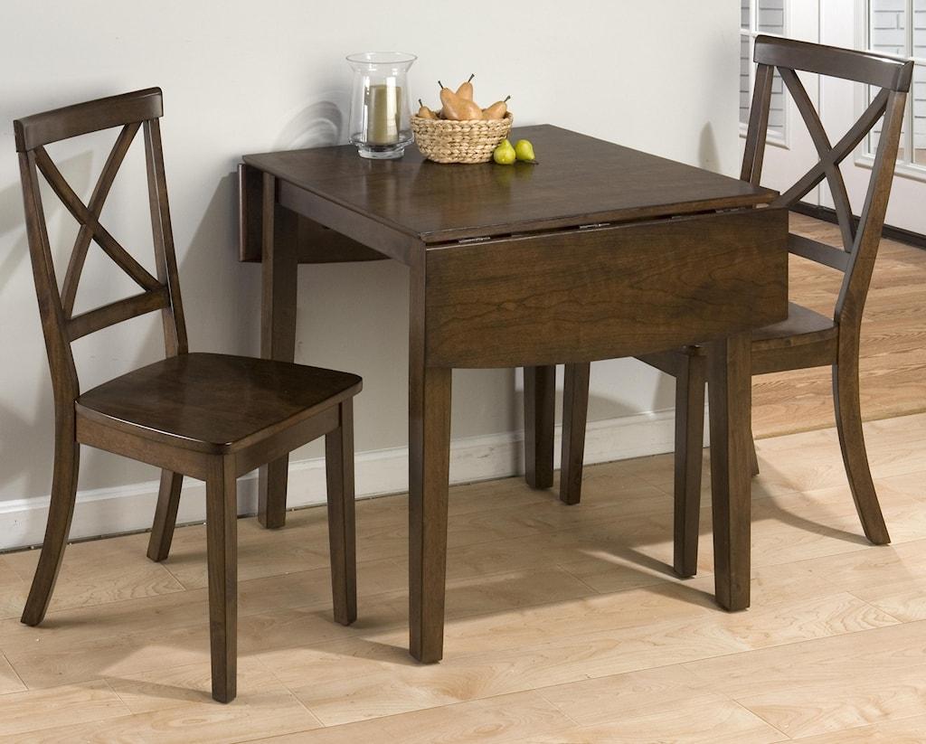 Jofran Shae 3 Piece Drop Leaf Kitchen Table Side Chair Set