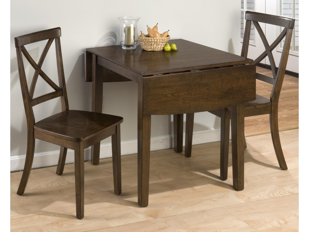 Taylor Cherry 3-Piece Drop Leaf Kitchen Table & Side Chair Set by Jofran at  H.L. Stephens